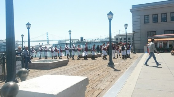 Dancers on the pier